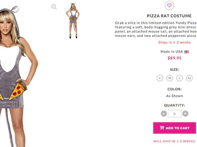 The sexy Pizza Rat Halloween costume you've been waiting for is finally here