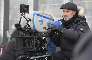 Sam Mendes on the set for James Bond 'Spectre'