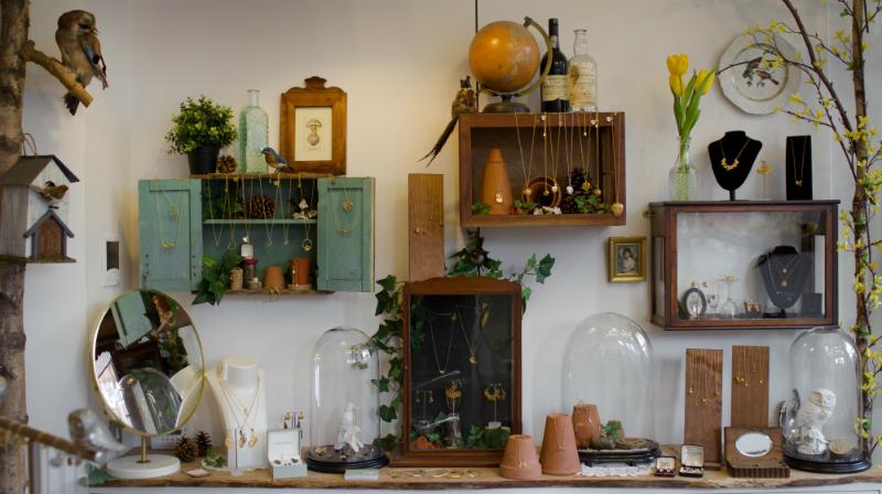 Alex Monroe interior, jewellery, Bermondsey