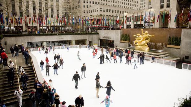 The ice skating rink at Rockefeller Center opens this Saturday