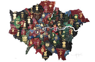 Someone's made a map of London out of passports to show diversity in the city
