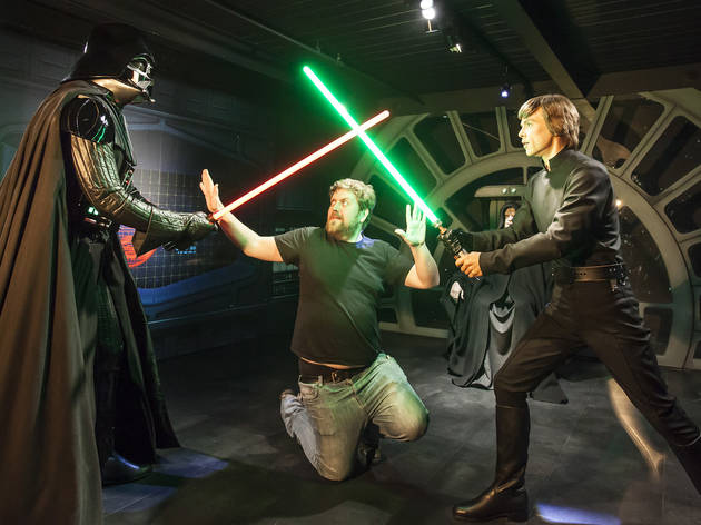 madame tussauds, darth vader, luke skywalker