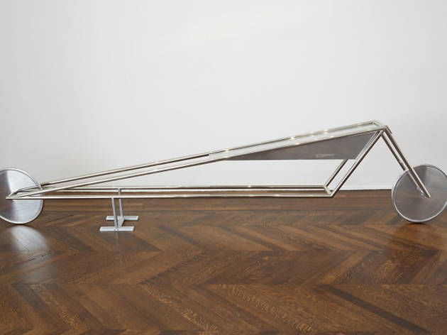 Gianni Piacentino, Nickel Frame Vehicle With Aluminum Triangle Tank And Wheels_f_model 71, 2013