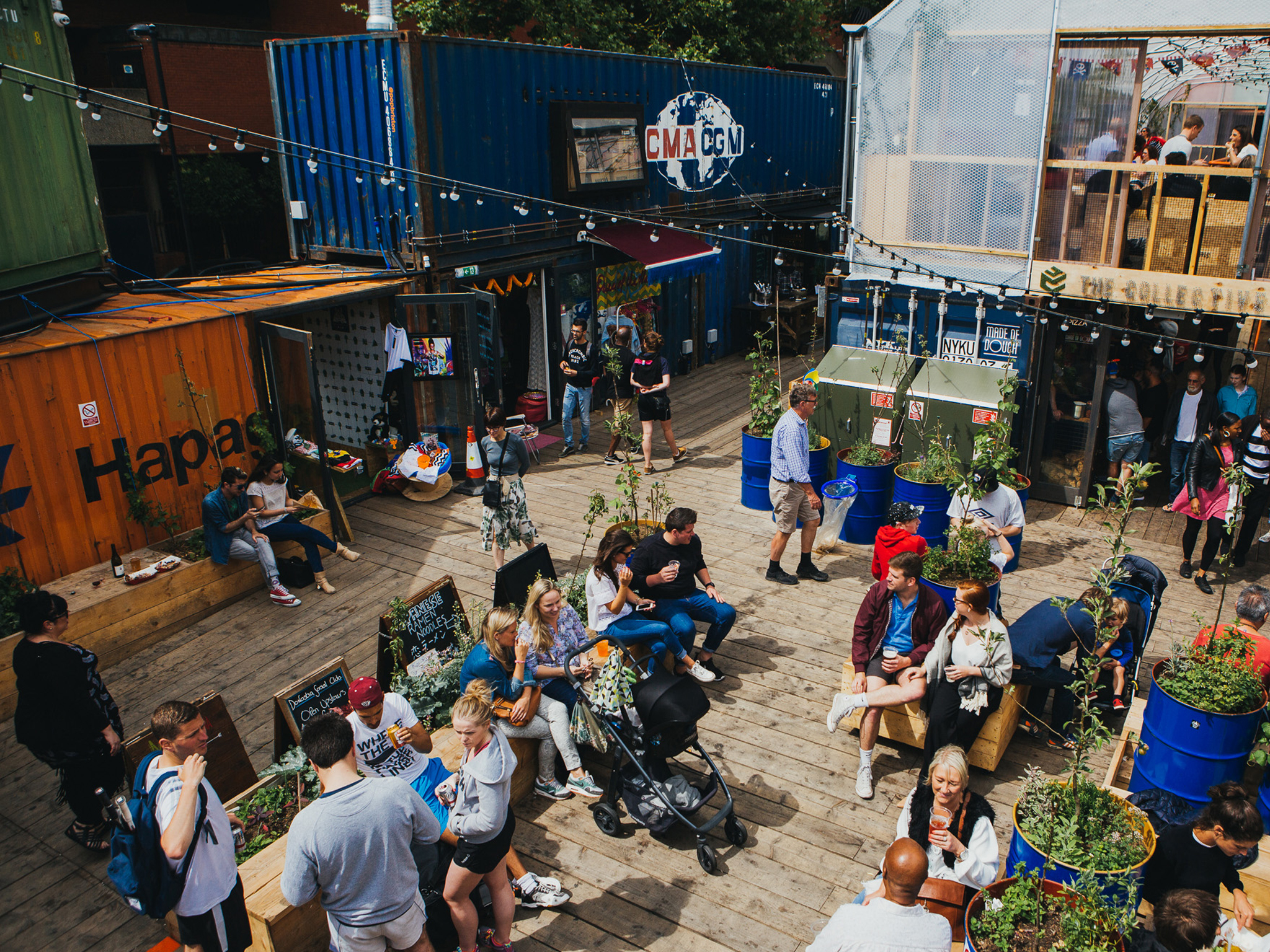 Find out what the containers are hiding at Pop Brixton