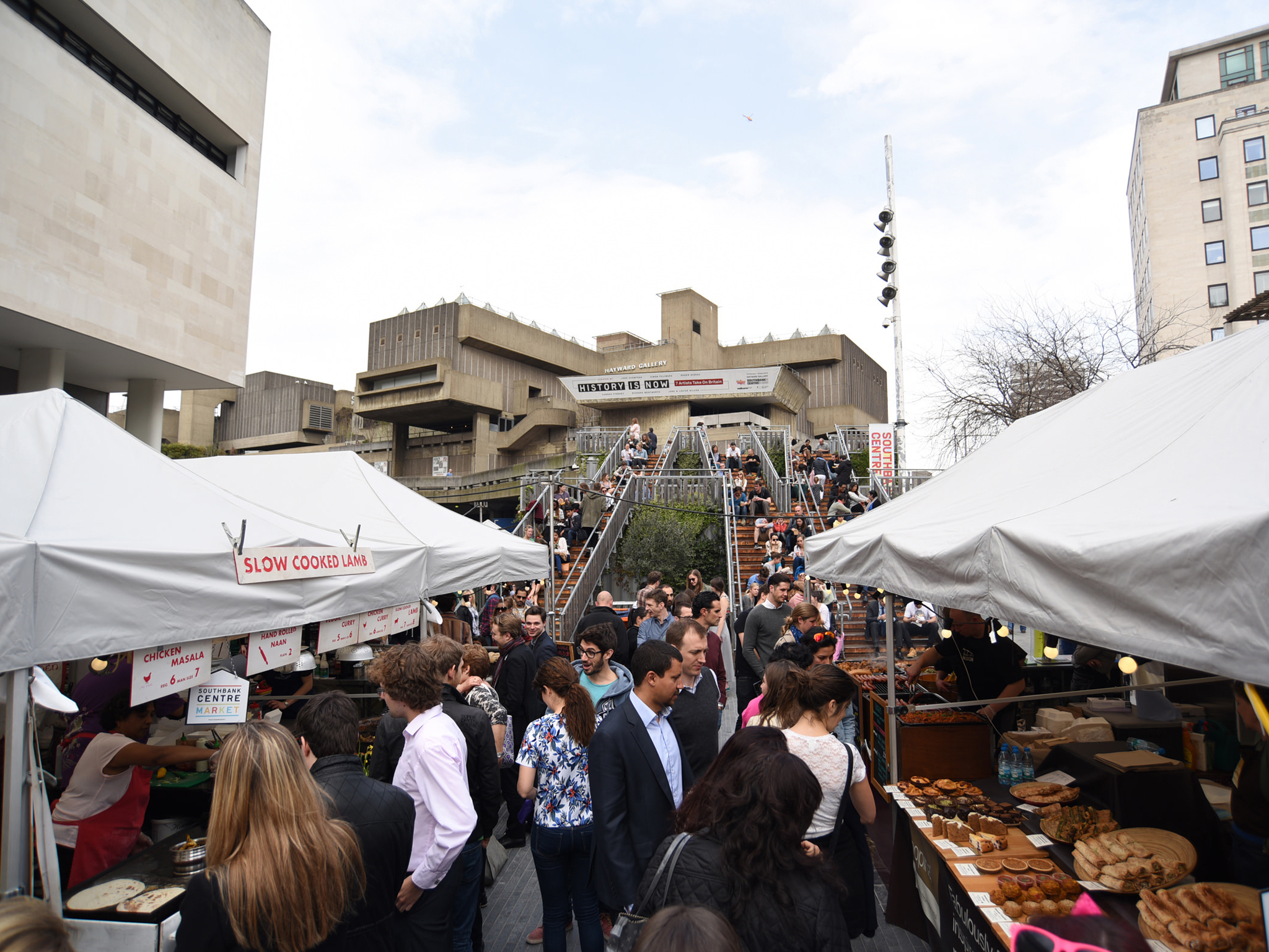 Eat your way around the world at the Southbank Centre food market
