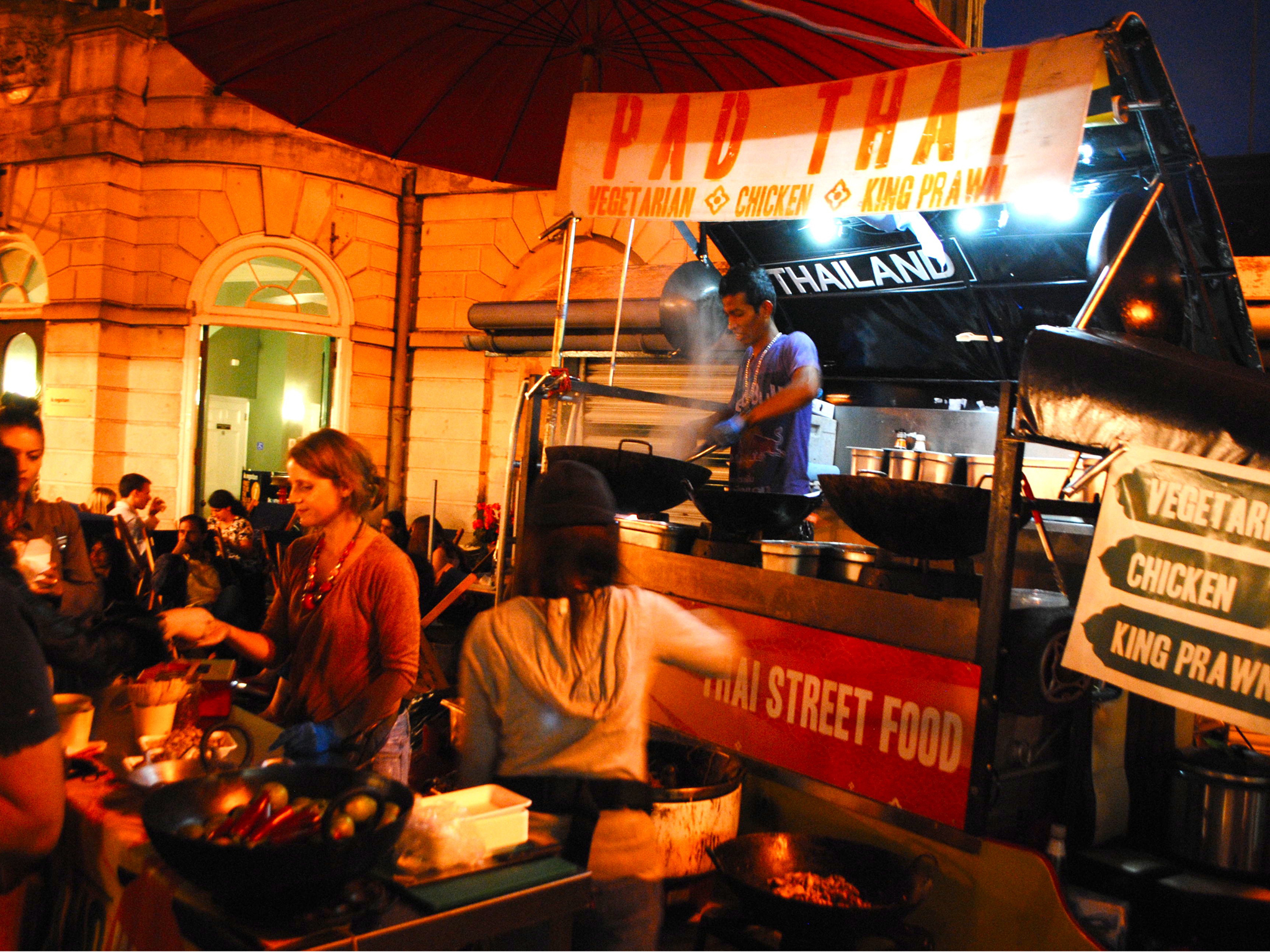 Eat your dinner alfresco at a lively London night market