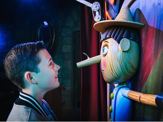 Embrace the slime at Shrek's Adventure