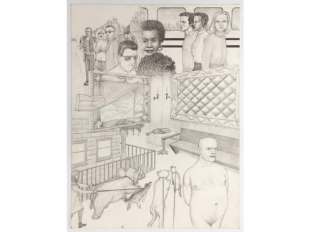 "Jim Shaw, Jim Shaw, Dream Drawing (""On the TV movie bio of Frank Sinatra...""), 1996"