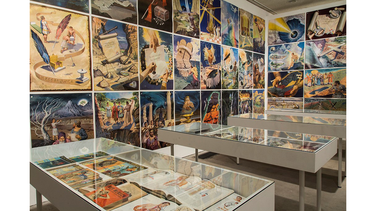 Jim Shaw, The Hidden World, installation view at Chalet Society, Paris, 2013
