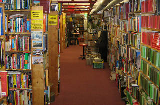 Skoob Books interior, shopping, Russell Sq, 2015