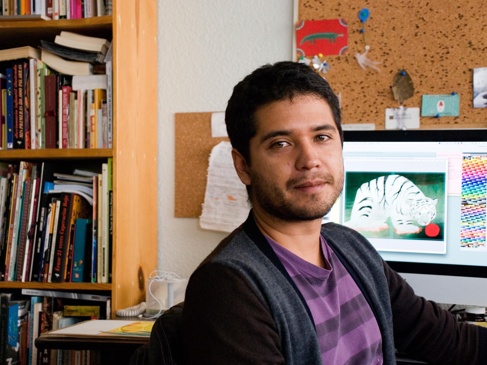 El ilustrador Juan Palomino en la FILIJ