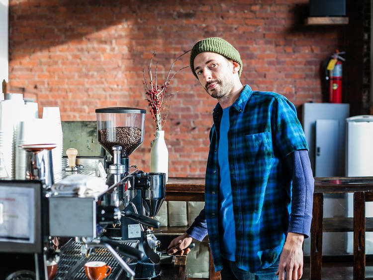 Indifferent Brooklyn indie-coffeeshop barista