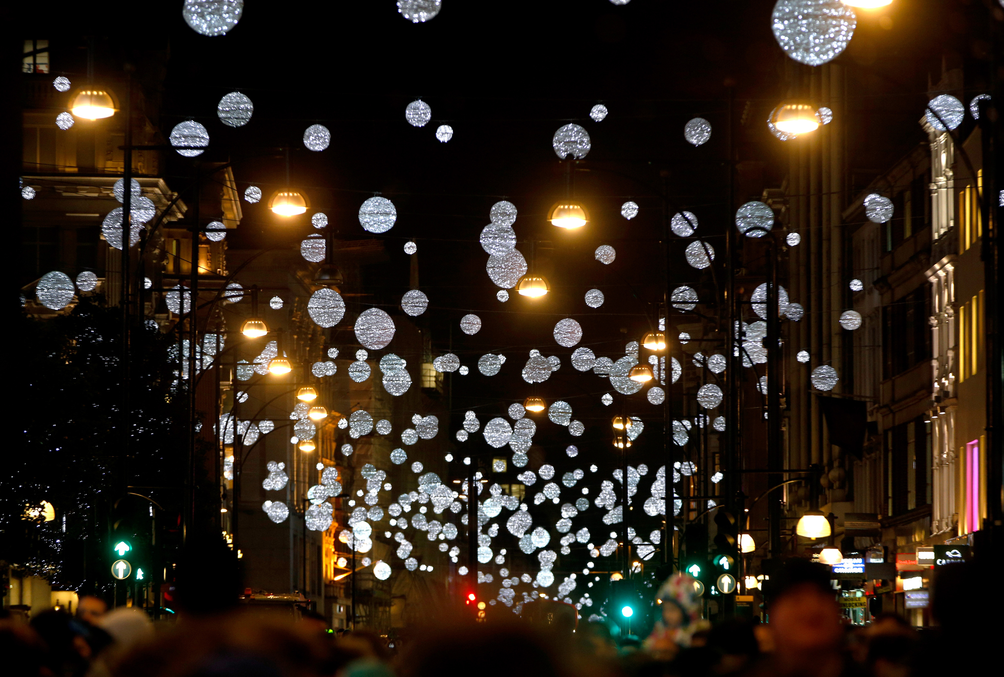 oxford street christmas lights - London Christmas Decorations
