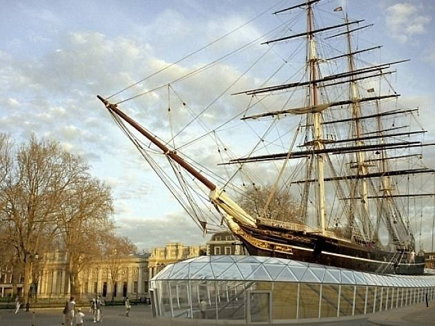 See a nineteenth-century clipper from below