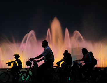 Ciclo tour Barcelona night tour