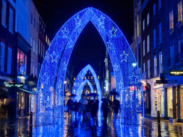See the Christmas lights twinkling in the West End