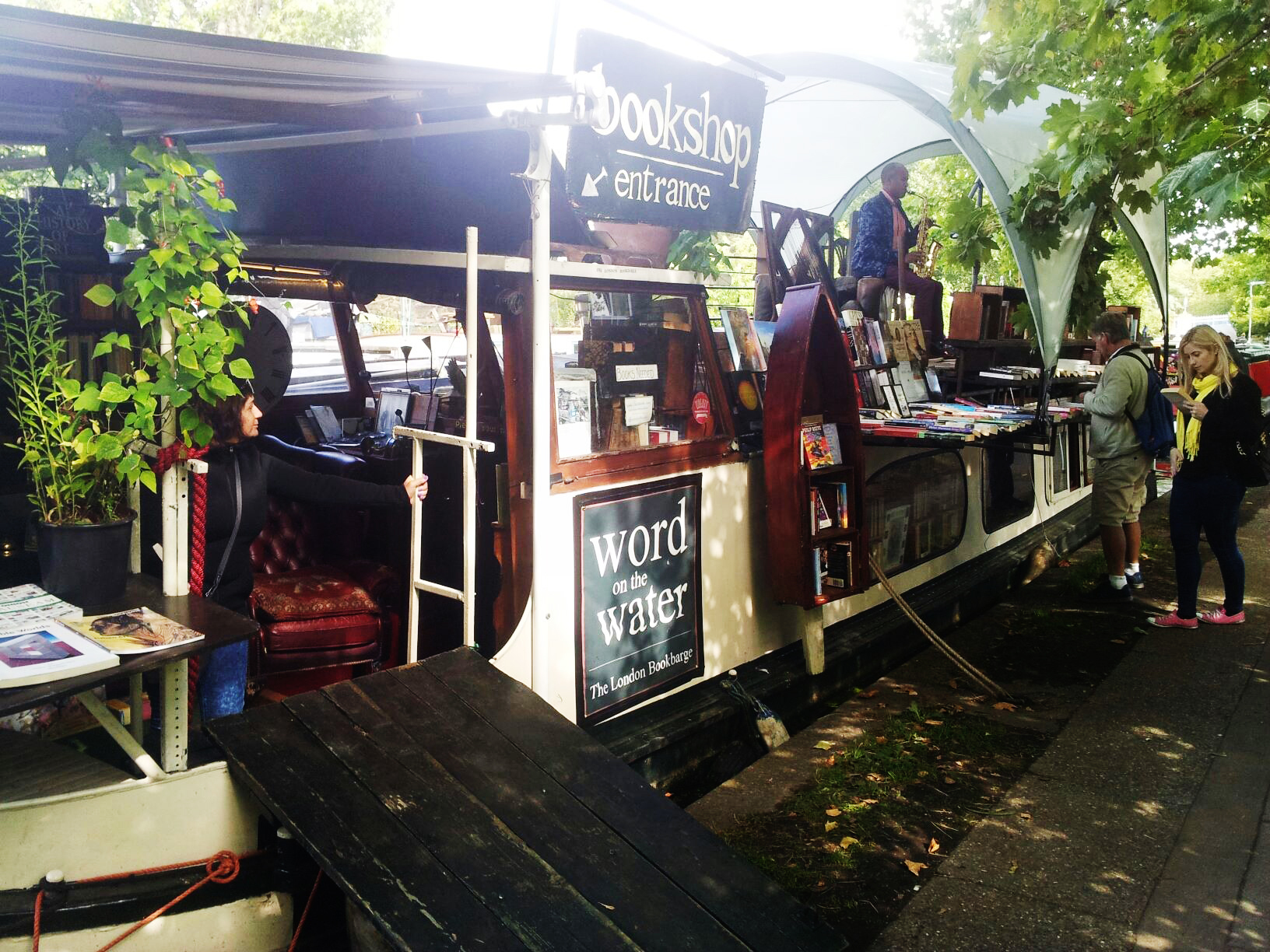 Climb aboard a book barge