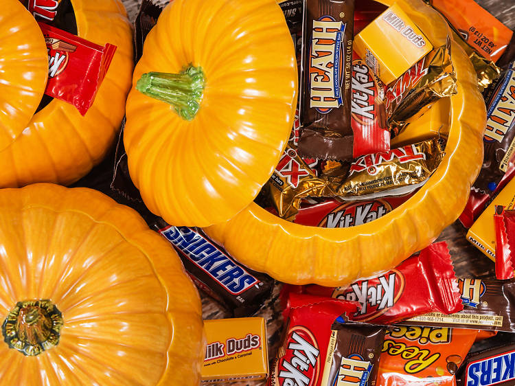 Beer and Halloween candy pairing at Bone Up Brewing