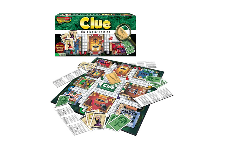 Clue, Winning Moves, 8 and up, 3–6 players