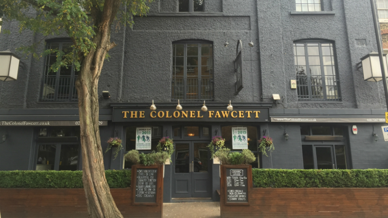 Colonel Fawcett, pub, Camden