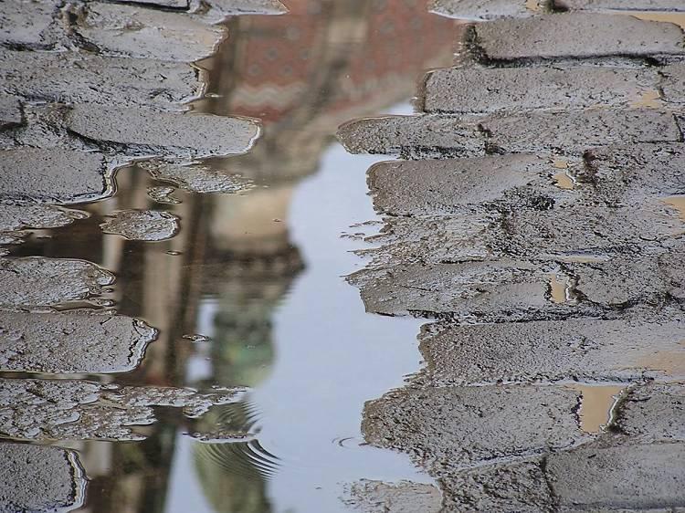 Fotografiar la basílica de La Mercè desde la calle Carabassa