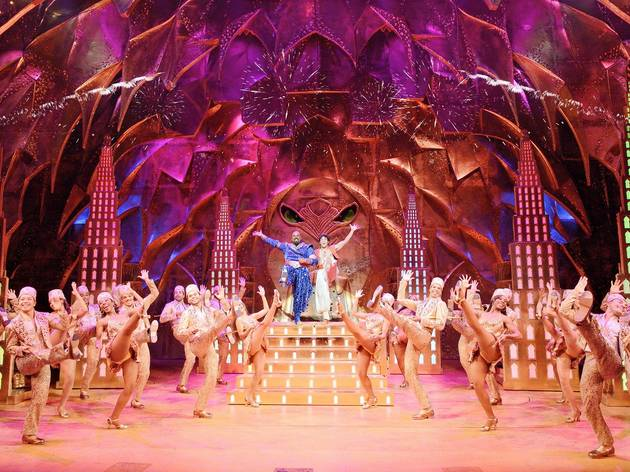 <p>The Broadway production of 'Aladdin'</p>