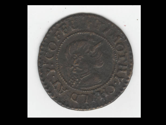 Copper coffee house token, Russell Street, London, 1649-1672