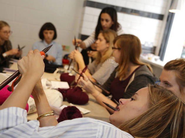 Knitting in London: Wool and the gang