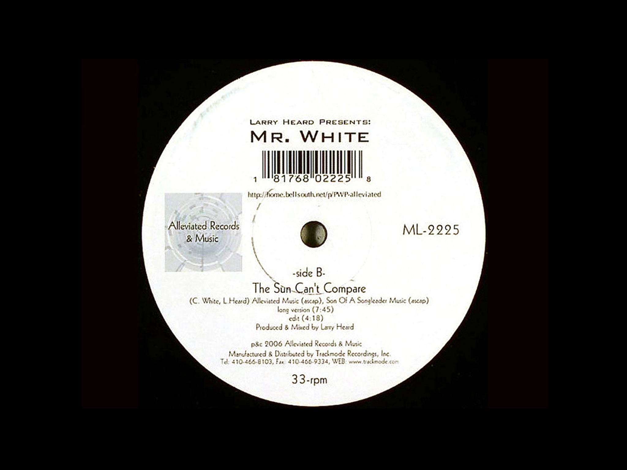 'The Sun Can't Compare' – Larry Heard Presents Mr White