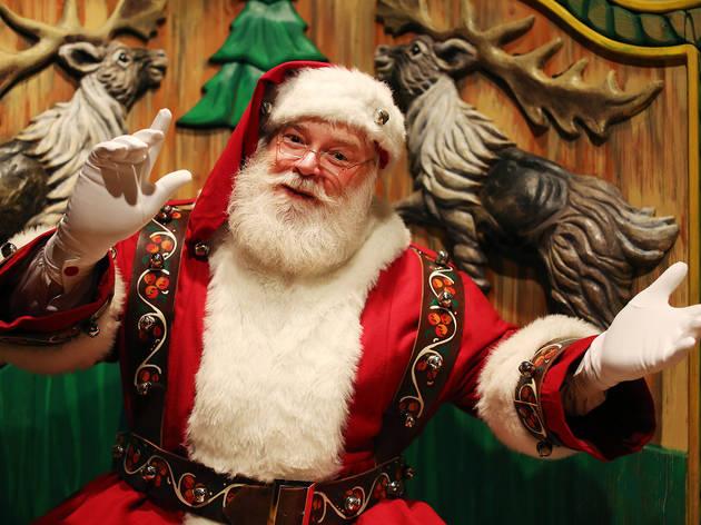 Macy's Santa's first day in Santa Land