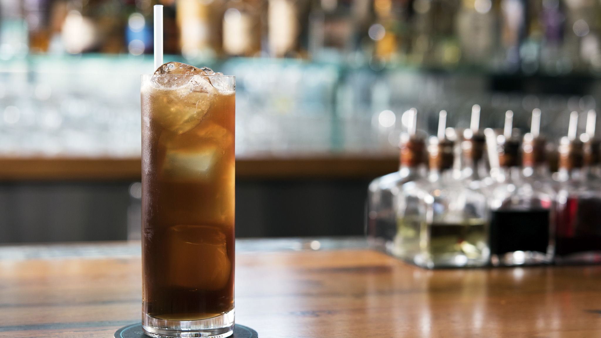 Clement Canne Bleue Rhum Agricole and Fernet Branca with Cane Cola Highball