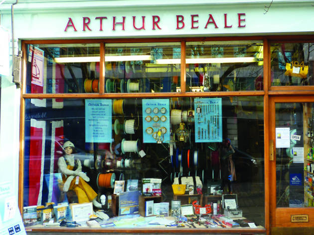Arthur Beale, shop, Tottenham Court Road