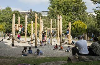 Walpole Park, playground, Ealing, 2015