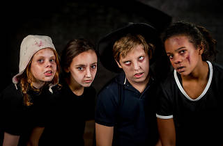 Halloween make-up at the London Dungeon