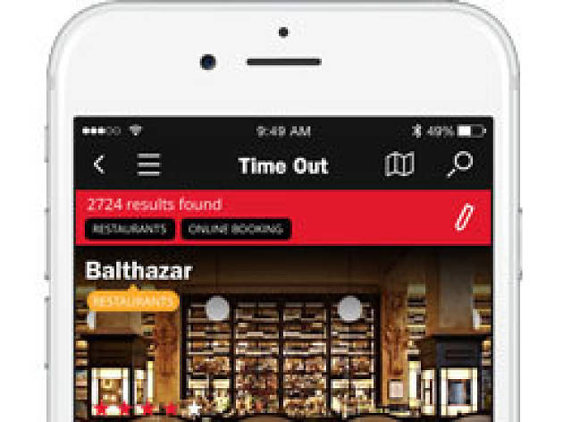Time Out app for iPhone