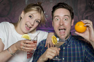 Cocktails In The City- General Manager of cocktail bar Hoot The Redeemer -Cara Watson and cocktail enthusiast - Joey Martinez celebrate the return of Cocktails in the City .
