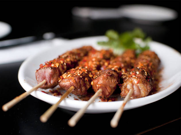 London's hottest dishes, lamb skewers at Manchurian Legends