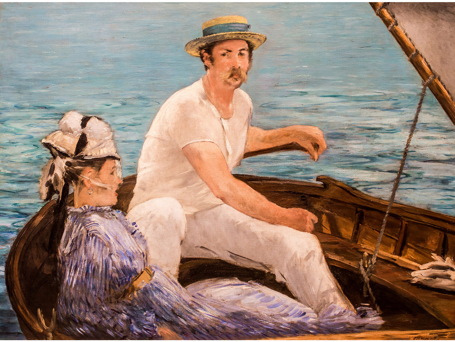 Édouard Manet, Boating, 1874