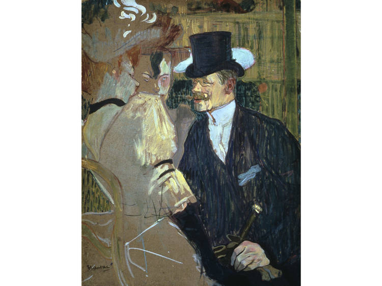 Henri de Toulouse-Lautrec, The Englishman (William Tom Warrener, 1861–1934) at the Moulin Rouge (1892)