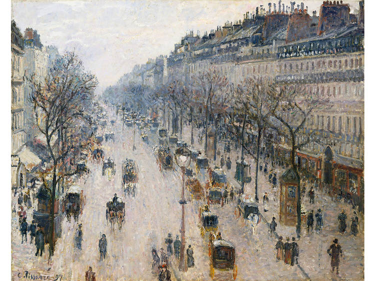 Camille Pissarro, The Boulevard Montmartre on a Winter Morning (1897)