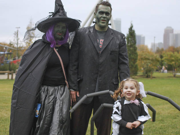 The first annual Halloween Gathering attracted a crowd of all ages with an Art and Halloween Festival and parade in and around Millennium Park on October 24, 2015.