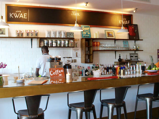 Fuel up on fresh coffee and fresh food at Cafe Kwae