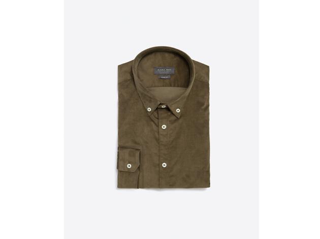Corduroy shirt by Zara, £25.99