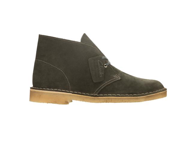 Loden green desert boots by Clarks, £95