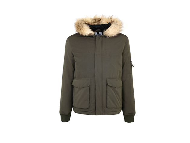 Down bomber jacket by Topman, £100