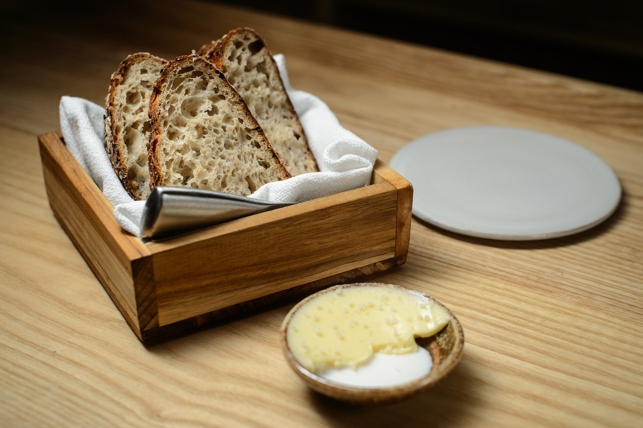 Bread Basket With Butter
