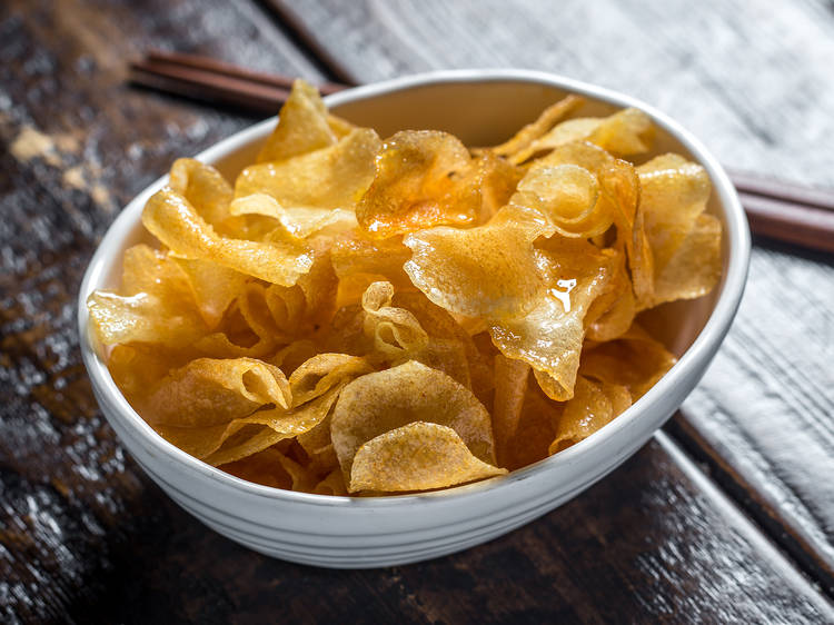 Honey butter chips at Oiji