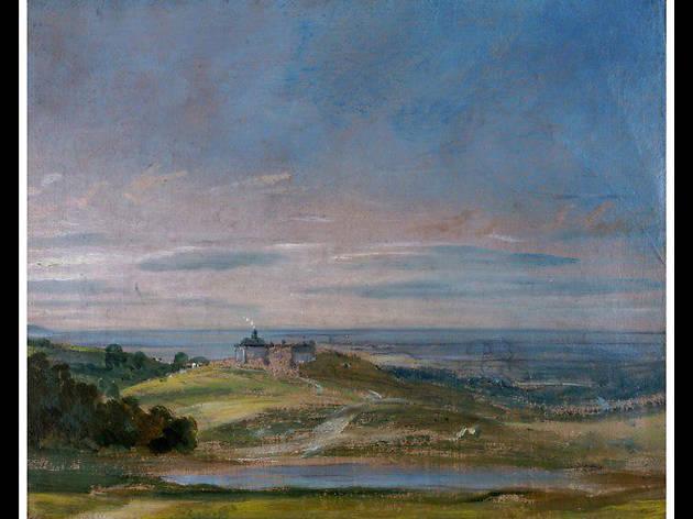 'Buildings on Rising Ground Near Hampstead', John Constable, 1821