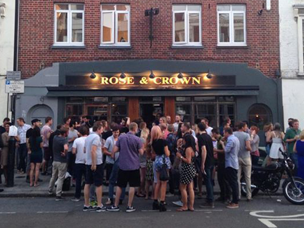 best craft beer bars in london, rose and crown
