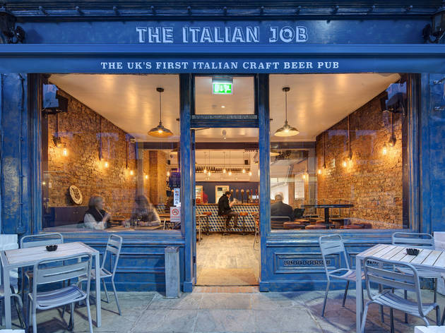 best craft beer bars in london, the italian job
